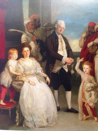 lady impey avec mari et enfants