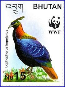 timbre poste bhutan
